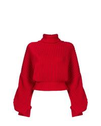 Jersey de cuello alto de punto rojo de A.W.A.K.E.