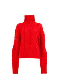Jersey de cuello alto de punto rojo de Aalto