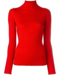 Jersey de cuello alto de punto rojo de Blumarine