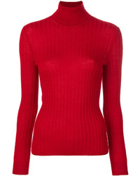 Jersey de cuello alto de punto rojo de Gucci