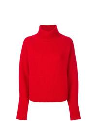 Jersey de cuello alto de punto rojo de Le Kasha