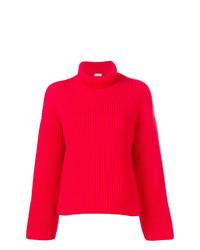 Jersey de cuello alto de punto rojo de MRZ