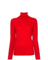 Jersey de cuello alto de punto rojo de Thom Browne