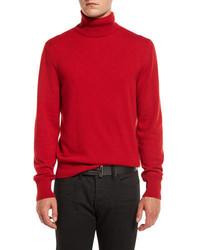 Jersey de cuello alto de punto rojo de Tom Ford