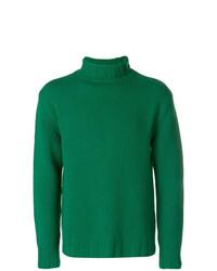 Jersey de cuello alto de punto verde de Closed