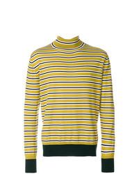 Jersey de cuello alto de rayas horizontales amarillo de Marni