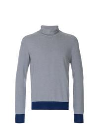 Jersey de cuello alto de rayas horizontales en azul marino y blanco de Maison Margiela