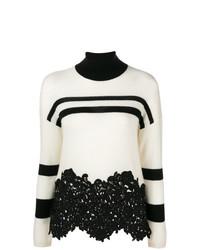 Jersey de cuello alto de rayas horizontales en blanco y negro de Ermanno Scervino