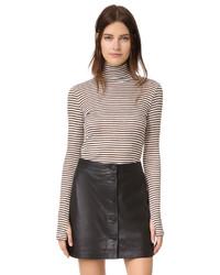 Jersey de cuello alto de rayas horizontales en blanco y negro de Rebecca Minkoff