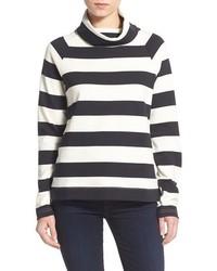 Jersey de cuello alto de rayas horizontales en blanco y negro de Vineyard Vines