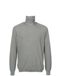 Jersey de cuello alto de rayas horizontales en negro y blanco de John Elliott
