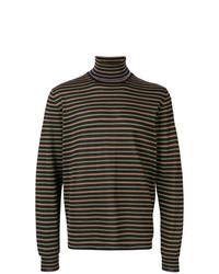 Jersey de cuello alto de rayas horizontales negro de Lanvin