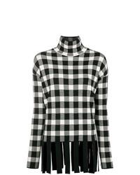 Jersey de cuello alto de tartán negro de Christian Wijnants
