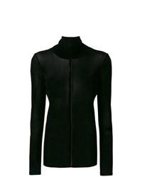 Jersey de cuello alto de terciopelo negro de Demoo Parkchoonmoo