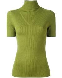 Jersey de cuello alto en amarillo verdoso