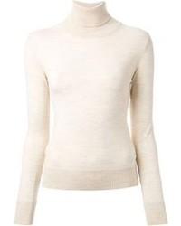 Jersey de cuello alto en beige