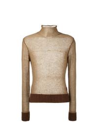Jersey de cuello alto en beige de Al Duca D'Aosta 1902