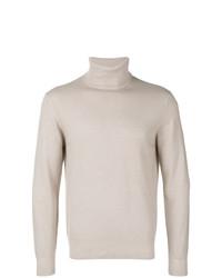 Jersey de cuello alto en beige de Cruciani