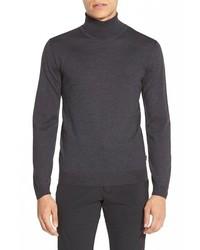 Jersey de cuello alto en gris oscuro de Hugo Boss