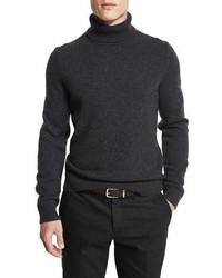 Jersey de cuello alto en gris oscuro de Michael Kors
