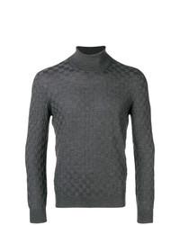 Jersey de cuello alto en gris oscuro de Tagliatore