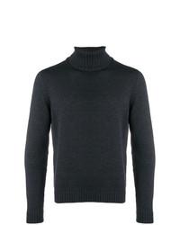 Jersey de cuello alto en gris oscuro de Zanone