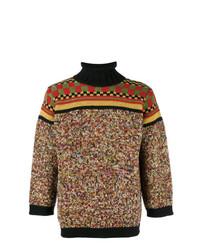 Jersey de cuello alto en multicolor de Jean Paul Gaultier Vintage