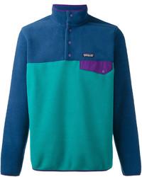 Jersey de cuello alto en verde azulado de Patagonia