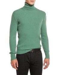 Jersey de cuello alto en verde menta
