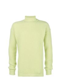 Jersey de cuello alto en verde menta de Rick Owens