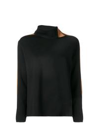 Jersey de cuello alto estampado negro de D-Exterior