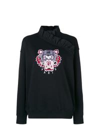 Jersey de cuello alto estampado negro de Kenzo