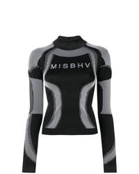 Jersey de cuello alto estampado negro de Misbhv