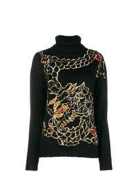 Jersey de cuello alto estampado negro de P.A.R.O.S.H.