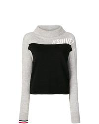 Jersey de cuello alto estampado negro de Rossignol