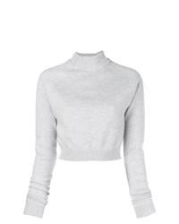 Jersey de cuello alto gris de Lanvin