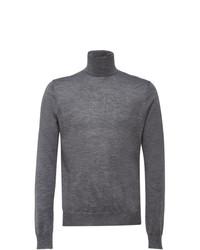 Jersey de cuello alto gris de Prada