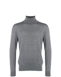 Jersey de cuello alto gris de Z Zegna