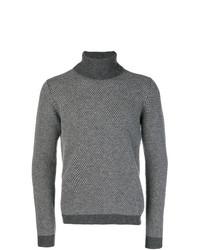 Jersey de cuello alto gris de Zanone