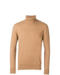 Jersey de cuello alto marrón claro de Ballantyne