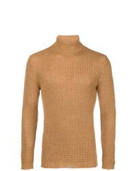 Jersey de cuello alto marrón claro de Cenere Gb