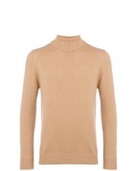 Jersey de cuello alto marrón claro de Dell'oglio