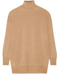 Jersey de cuello alto marrón claro de Gucci