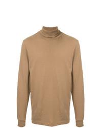 Jersey de cuello alto marrón claro de Wood Wood
