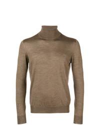 Jersey de cuello alto marrón de Tagliatore