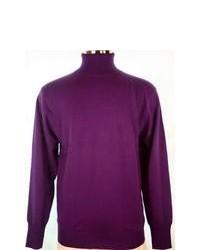 Jersey de cuello alto morado