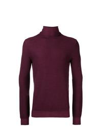 Jersey de cuello alto morado oscuro de Paolo Pecora