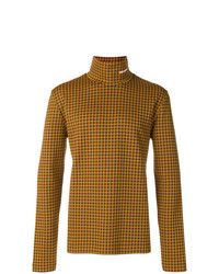 Jersey de cuello alto mostaza de Calvin Klein 205W39nyc