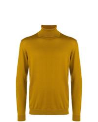 Jersey de cuello alto mostaza de Roberto Collina