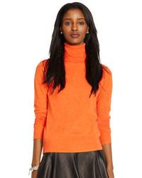 Jersey de cuello alto naranja